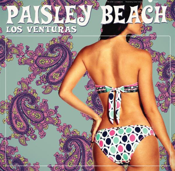 Album cover of Los Venturas Paisley Beach with girl in bikini